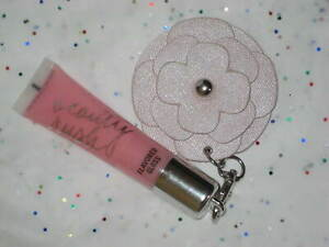Victoria's Secret Beauty Rush Lip Gloss in Candy, Baby with Keychain Charm