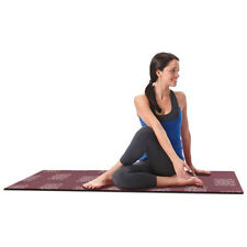 Empower Printed Yoga Pilates Mat Exercise Pad NonSlip With Clutch Purple NEW