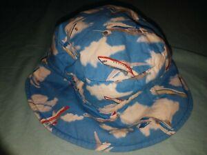 Reversible Boys Hat Planes/Pattern - EUC