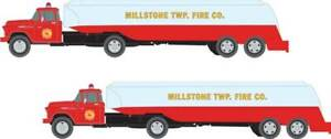 Fire Water N 54' Ford Tractor/Tanker Trailer Set - Classic Metal Works #51197