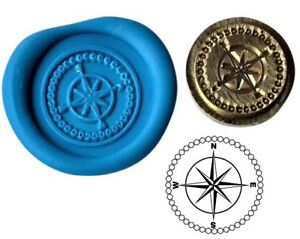 Compass Wax Stamp Seal Starter Kit or Buy Coin Design XWS039B/XWSC112