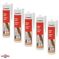 14,65€/L 5x 310ml Würth Maler Acryl weiß 08921611 Maleracryl Fugen Kartusche Inn