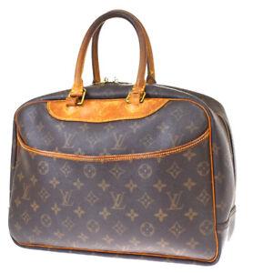 Authentic LOUIS VUITTON Deauville Hand Bag Monogram Leather Brown M47270 37MH628
