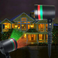 Outdoor LED Waterproof Xmas Garden Stage Lights Moving Laser Projector R&G Lamp