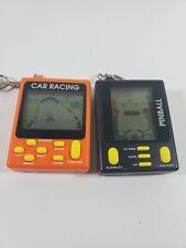 Car Racing & Pinball  Keychain handheld Electronic Video Game by MGA 1997
