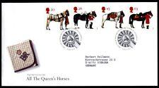Pferde. FDC-Brief. Großbritannien 1997