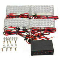 4x22 LED Super Bright 12V Car Flashing Emergency Warning Light Grill Strobe