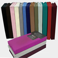 Percale Non Iron Extra Deep Fitted Sheets Double King 40cm Depth Matress Sheets