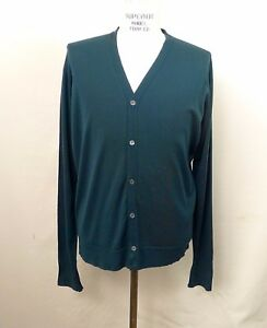 John Smedley Green Cardigan Sweater Made in England NWT (Various Sizes)