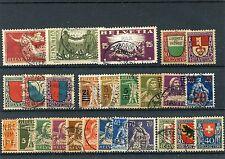 Schweiz o - aus 1919 - 1921 - KW 212,-- €  ( 13827 )