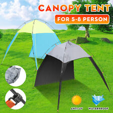 5-8 Person Beach Tent Awning Rooftop Canopy Portable Sun Shade Shelter Triangle