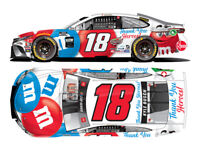 FREE SHIP - 2020 KYLE BUSCH #18 M&M's THANK YOU HEROES TOYOTA 1:24 BRAND NEW