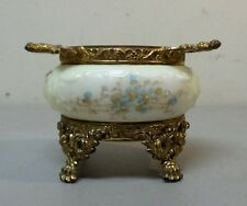 C. F. MONROE WAVE CREST  WAVECREST SMALL OPEN PIN DISH, ORMOLU RIM AND BASE