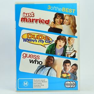Just Married / Dude where's my car? / Guess Who 3-Disc DVD GC Free Post