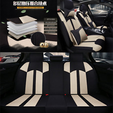 Flax +sponge stylish Car Seat Cover for 5 sit reserves airbag outlet all seasons