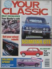 Your Classic magazine 07/1992 featuring Reliant Scimitar GTE. Volvo, Hillman Imp
