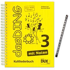 Das Ding 3 Kultliederbuch mit Noten - MusikBleistift - D8888 - 9783868491944