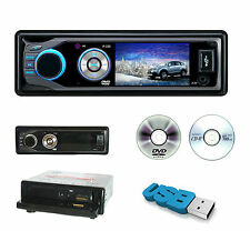 "AUTORADIO STEREO DISPLAY 3"" VIDEO 1din USB SD DVD CD RETROMARCIA FRONTALINO MP4"