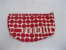 FEED 10 ~ Red / White Polka Dot Clarins Cosmetic Make Up Bag Pouch