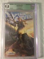 Captain Marvel 1 Cover E CGC 9.8 Qualfied Signed J Scott Campbell