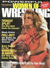 Women of Wrestling Premier Issue signed Nina Wendi Richter w/Coa History Bonus