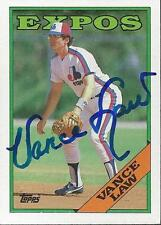 Vance Law Montreal Expos 1988 Topps Signed Card