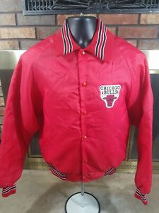 Vintage Chicago Bulls NBA Basketball Satin Snap Majestic Jacket Mens Size Medium