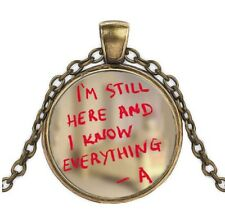 PRETTY LITTLE LIARS CARBOCHON PENDANT 'A' NECKLACE & GIFT BAG