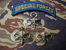 Complete set SPECIAL FORCES Prototype Parachutist Airborne Parachute Jump Wings