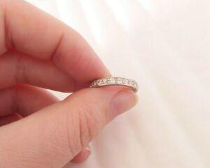 Platinum 1ct old cut diamond full eternity ring, art deco