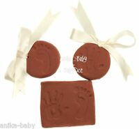 Soft Clay Dough New Baby Boy or Girl Handprint Footprint Prints Kit Unisex Brown
