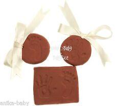 Soft Clay Dough New Baby Boy or Girl Handprint Footprint Prints Kit Unisex Brown