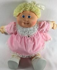 Cabbage Patch Kid CPK 1984 Blue Eyed Blond Girl with Original Pink Dress