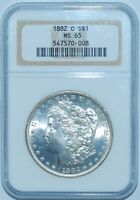 1882 O NGC MS65 Morgan Silver Dollar