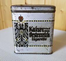 Vertikale Blechdose * Kaiser von Österreich Cigarette * old pocket tin