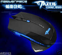 2.4GHz USB E-3lue Mazer II 6 Buttons 2500 DPI LED Wireless Wired Gaming Mouse 3