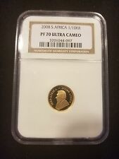 2008 South Africa 1/10 oz Gold Krugerrand PF-70 Ultra Cameo NGC Low Mintage