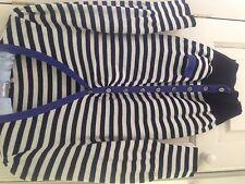Whistles Stretch Fine Knit Stripey Cardigan - Size 3 UK 10/12
