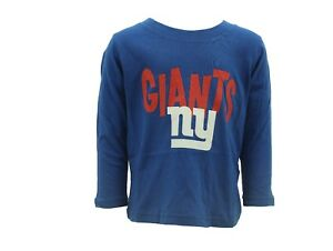 New York Giants NFL Team Apparel Toddler Size Victor Cruz #80 Long Sleeve Shirt