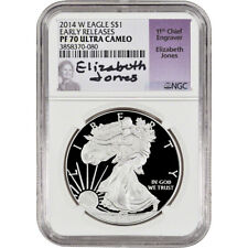 2014-W American Silver Eagle Proof - NGC PF70 - Early Releases - Jones Signed