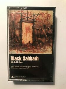 Black Sabbath *Mob Rules *cassette *tape *VG+ *1981 *Warner Bros *M5-3605 *METAL