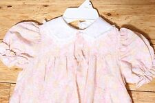 Euc Vintage School Dress Light Pastel Floral Lace Made in Usa Size 6