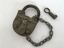 Vintage Old  Beautiful Shape Iron 2 TOUREN German Pad lock with key working