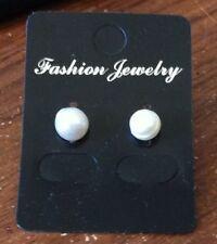 NEW Fashion White Pearl Stud Pierced Earrings