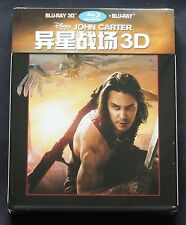 DISNEY'S JOHN CARTER - CHINA 3D+2D BLU-RAY VIVA METAL BOX (NOT STEELBOOK) *NEW !