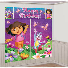DORA THE EXPLORER PARTY SUPPLIES SCENE SETTER WALL DECORATIONING KIT
