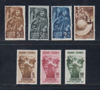 SAHARA (ESPAÑA) - AÑO 1952 NUEVO COMPLETO MLH SPAIN - EDIFIL 94/100