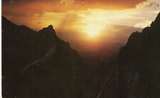 postcard USA  West Texas   sunset in the window of the Chisos Mountain  posted