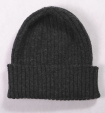 100% Lambs Wool Ribbed Turn Up Beanie Hats Made in England, Seamless Design.