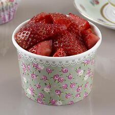 8 x Vintage Style pretty floral Ice Cream Tubs, Treat Tubs, dessert bowls buffet